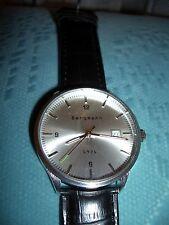 Bergmann Armband Uhr 1976 ,  Flieger Uhr Armband Glatt schwarz NEU