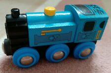 GENUINE BLUE BRIO  Wooden Train Engine for Wooden Train.