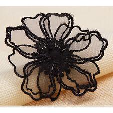 2 X Spitze Organza Blumen Bestickt Aufnäher Kleid Applikation Nähen Reparatur
