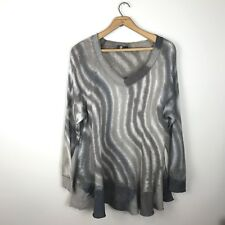 M For Bolide Tunic Knit Top Sweater Mohair Blend Brown Cream Size Medium Italy