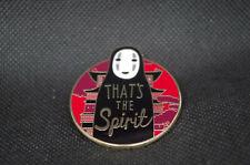 """Spirited Away Ghibli No Face Kaonashi That's the Spirit 1.75"""" Enamel Pin Badge"""