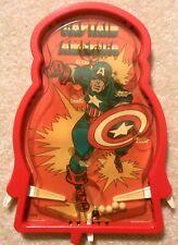 Vintage 1970s Hasbro - Marvel Comics - CAPTAIN AMERICA - Pinball Bagatelle Game