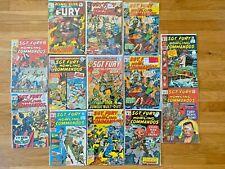 Sgt. Fury and his Howling Commandos Marvel Comics- Lot of 13 Comics- See Photos