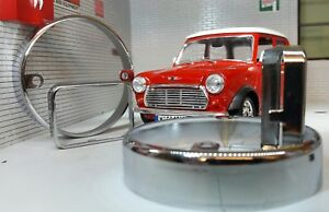 Austin Rover Classic Mini Chrome Front & Wing Indicator Repeater Light Trim Set