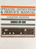 Sansui QR-500 4 channel Receiver Owners and Service Manual 25 pages QR500