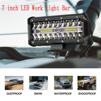 1x7inch 400W LED Work Light Bar Flood Spot Beam Offroad 4WD SUV Driving Fog Lamp