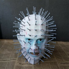 Hellraiser Mask Pinhead Ghost Scary Latex Helmet Halloween Horror Cosplay Props