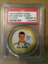 1962-63 Jean-Guy Talbot #56 Shirriff Coin PSA 10 (Gem Mint!)