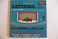"""LOUIS ARMSTRONG""""SATCHMO AT PASADENA-disco 45 giri EP-DOPPIO/DECCA Usa 1951"""""""