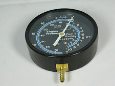 "Pressure Gauge 167393 3 1/2"" 30"" HG VAC- 10 PSI HOSE BARB FITTING"