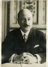 """André François PONCET Ambassadeur à Berlin 1931"" Photo originale G. DEVRED /ROL"