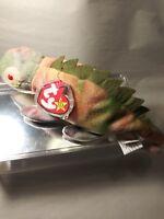 RARE Ty Beanie Babies Iggy the Iguana Retired w Tag Errors Best CHRISTMAS GIFT!