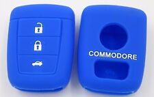 BLUE SILICONE KEY COVER SUITS HOLDEN REMOTE MALOO SS V8 SV6 VE COMMODORE