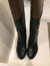 Tommy Hilfiger Womens Black/Brown  Riding Boots Size 6 . BRAND NEW ! With Box