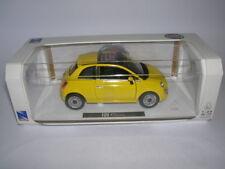 NewRay Fiat 500 Année de construction 2007 jaune jaune, 01:24 Tapez 71016
