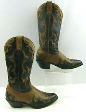 Ladies Boulet Brown / Black Western Boots Size  :6.5 C *WIDE *