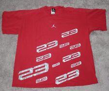 vtg Nike AIR JORDAN #23 T-SHIRT Men's XL X-LARGE Red Jumpman Bulls Retro Flight