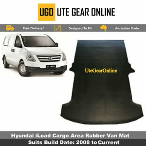 Ribbed Rubber Van Mat for Hyundai iLoad Cargo Area 3mm - Suits 2008 - Current