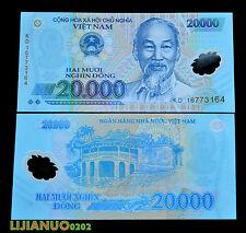 Vietnam 20000 Dong P-120 UNC CURRENCY WÄHRUNG POLYMER-BANKNOTEN ASIEN