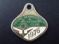 Vintage Young Services & Citizens Club 1976- Pendant / Badge