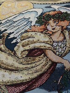 Mary Engelbreit CHRISTMAS ANGEL Tapestry Pillow