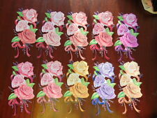 Tattered Lace Charisma Die Cut Cuts  ROSE FLOWERS 10 colours 1 of each glossy