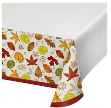Thanksgiving Happy Harvest Plastic Tablecover Autumn Leaves Party Tablecloth