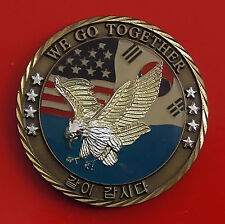 Challenge Coin Medal ROK Korea US Flags American USA Eagle Commander In Chief