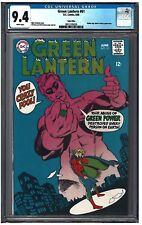 GREEN LANTERN #61 CGC 9.4 (6/68) DC COMICS white pages