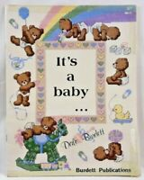 "1984 Counted Cross Stitch Pattern Book ""It's A Baby"" Pictures 18 Designs 6357F"