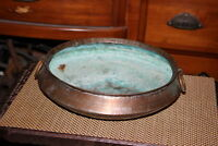 Antique Middle Eastern Primitive Cooking Vessel Cauldron Hammered Copper Metal