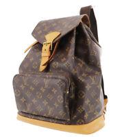 LOUIS VUITTON Montsouris GM Backpack Bag Monogram Brown M51135 Auth #TT857 Y