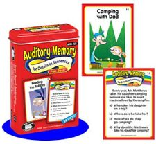 Auditory Memory for Details in Sentences Flash Cards Fun Deck Super Duper Read