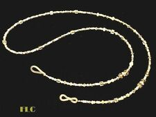 """Eyeglasses holder chain necklace Crystals glass beads white wedding mix 31""""/32"""""""