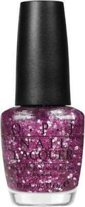 OPI Muppets DIVINE SWINE Purple Pink & Silver Glitter Top Nail Polish .5 oz C13