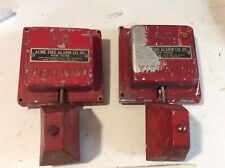 Pair Of Acme Fire Alarm Trouble Bells