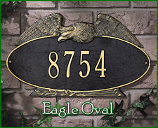 Whitehall Eagle Oval Address Marker Plaque Personalized Sign No Rust & 2 Mount