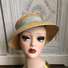 Vintage Laura Ashley Mother & Child Straw Hat - 1980s