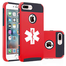 For iPhone SE 5 5s 6 6s 7 Plus Dual Shockproof Hard Case Cover Star of Life EMT