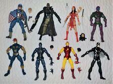 Lot of 8 Marvel Legends figures - Iron Man Captain America Elektra Kang Nova