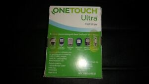 100 OneTouch Ultra Blue Diabetic Test Strips 07/31/2022 free shipping