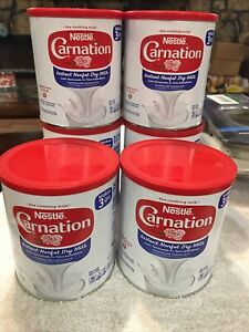 Carnation (6 Cans)  Instant Nonfat Dry Milk 9.63 Ounce Sealed Exp 1/22