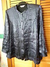 Elvi Ladies Long Sleeved Glossy Satin Blouse Size 16/18