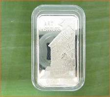 """1 oz .999 Silver """"ART INSTITUTE"""" The First National Bank of Chicago Art Bar E12"""