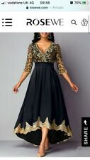 Black And Gold Lace Gown