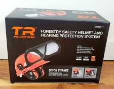 TR Industrial TR88011 Hard Hat Forestry Safety Helmet & Ear Muffs NEW