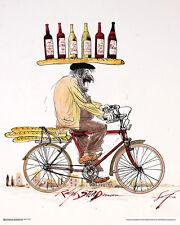 WINE - STEADMAN ART POSTER - 24x30 RALPH BICYCLE 10685