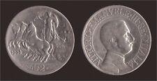 2 LIRE 1908 QUADRIGA VELOCE - ARGENTO/SILVER - VITTORIO EMANUELE III