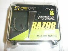 Carp Spirit Ace Razor Point sz6 Continental Extra Barbed Hooks 10pk Carp