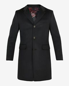 Ted Baker SWISH Cashmere overcoat Black Ted Size 2 (UK Size: S) RRP £429